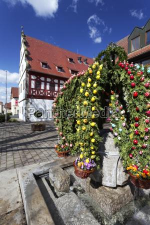 osterbrunnen im landkreis schweinfurt unterfranken bayern