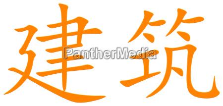 chinesisches schriftzeichen fuer bauen