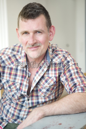 portrait of handsome mature man looking