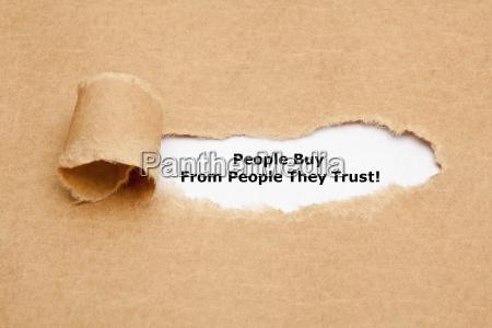 menschen kaufen von menschen denen sie