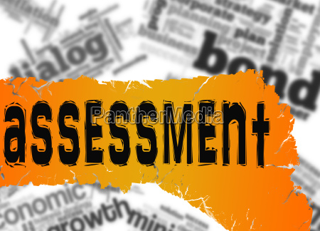 word cloud with assessment word on
