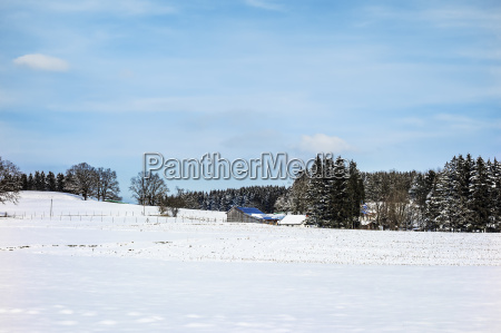 winter landscape bavaria germany