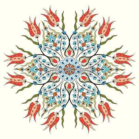 antike ottomanische tuerkische mustervektoren design achtundneunzig