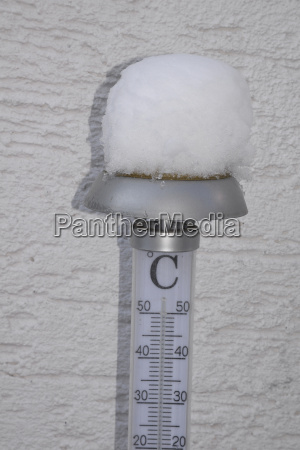 thermometer im winter
