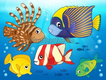 coral reef fish theme image 3