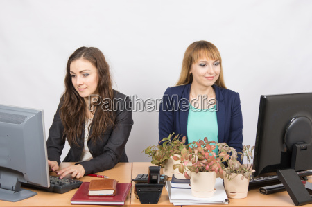 two office employee one of which