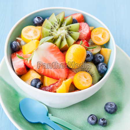 bowl of fresh fruit salad