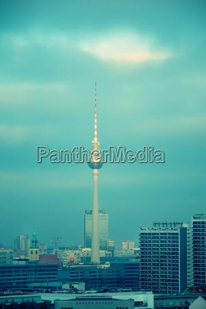 berlin television tower skyline
