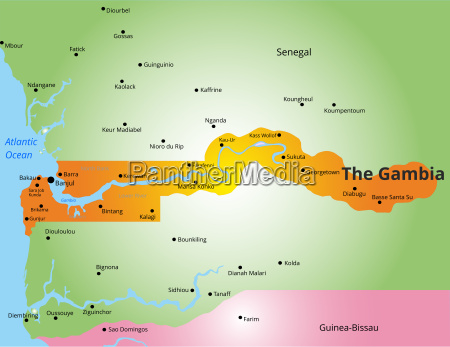 color map of gambia
