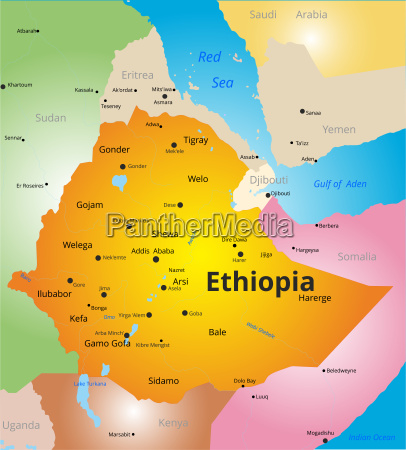 color map of ethiopia