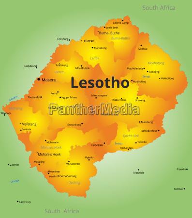 farbkarte von lesotho land