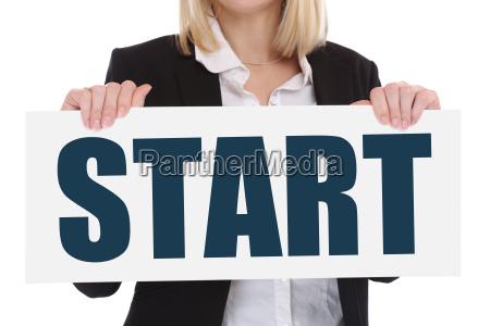 start starten anfang anfangen beginn beginnen