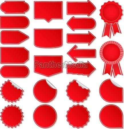 rote preisschilder