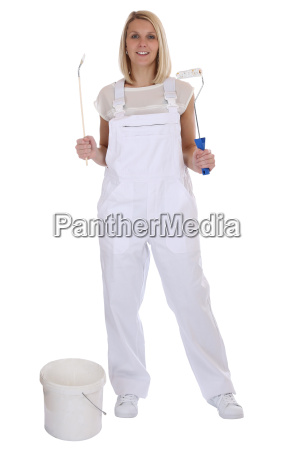 painter woman painter professional craftsman full