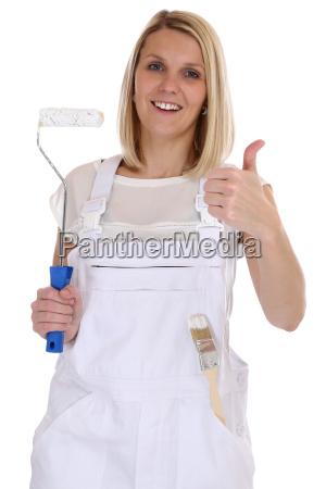 painter woman painter professional craftsmen thumbs