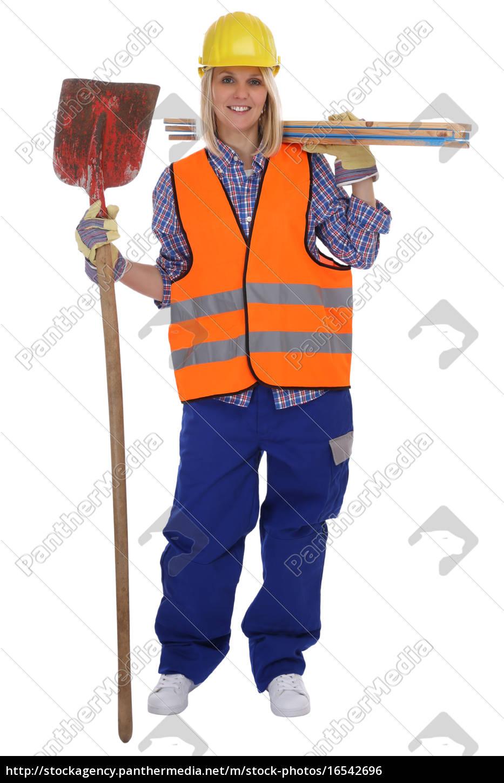 Bauarbeiter Frau Bauarbeiterin Beruf Arbeiter Bau Lizenzfreies