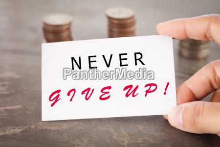 niemals inspirierendes zitat aufgeben