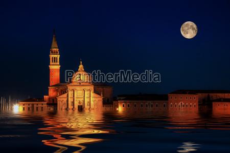 campanile by night