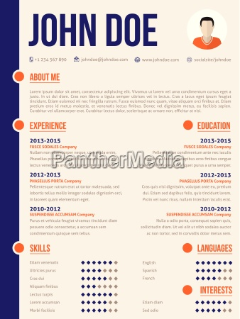 simplistic yet colorful modern resume cv