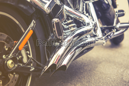 vintage aus der naehe von motorrad
