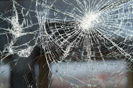 zerstörtes, fenster, eines, eisenbahnwaggons - 16555174