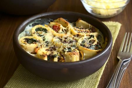 baked crepe rolls casserole