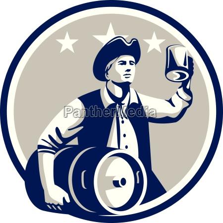american patriot carry beer keg circle