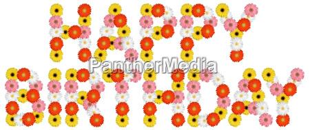 happy birthday anniversary of flower nature