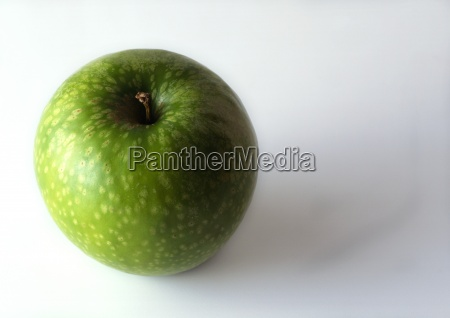 green apple overhead view