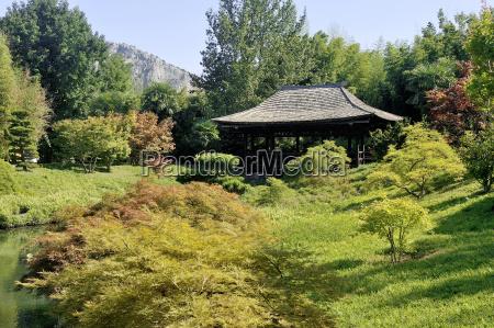 japanischer garten park anduze bambus