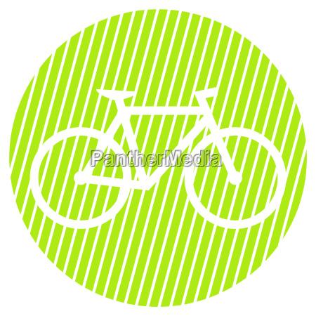 gestreifter kreis fahrrad symbol