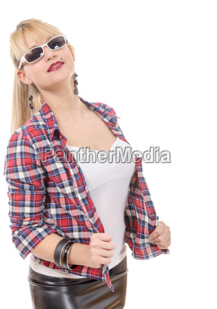 beautiful young woman clothed in a