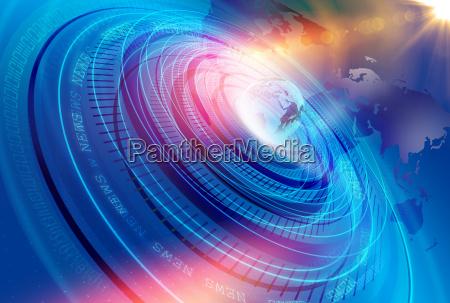 grafische modern digital world news studio