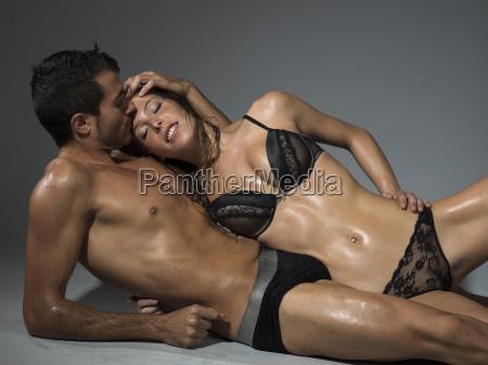 man kissing his partner sweetly in