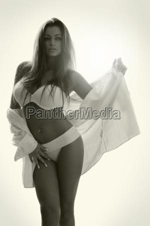 beautiful attractive female body in erotic