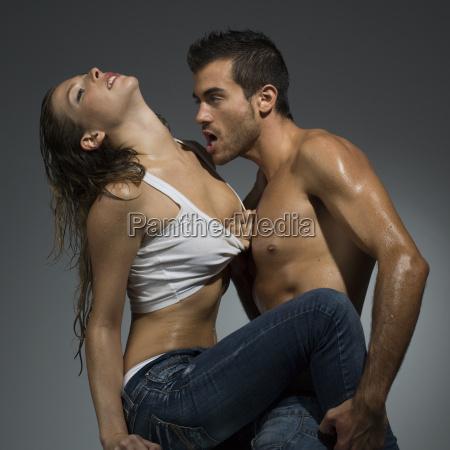 erotic scene of a sexy couple