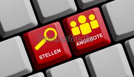 tastatur zeigt stellenangebote online