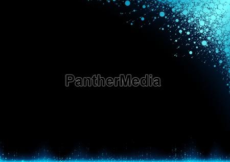 blauer schnee auf einem dunklen hintergrund