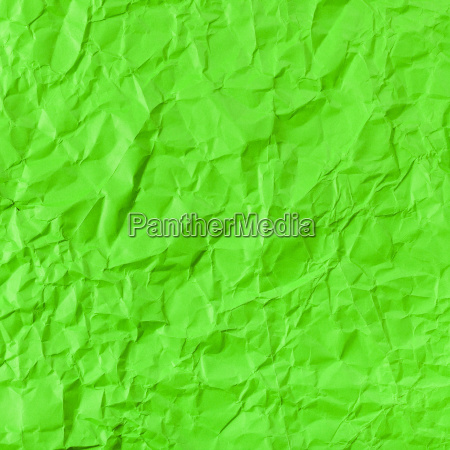 square background from green crumpled paper