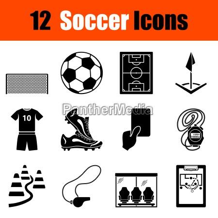 set von fussball ikonen