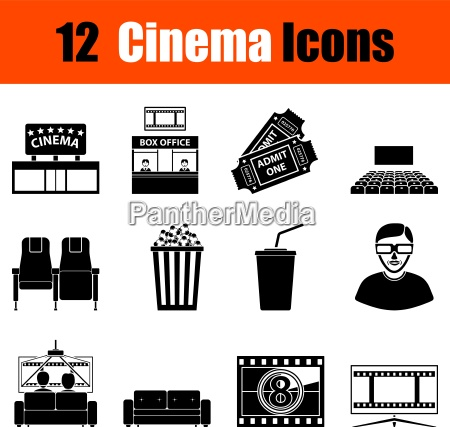 set von kino ikonen