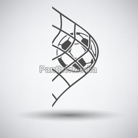 fussball im tor net symbol