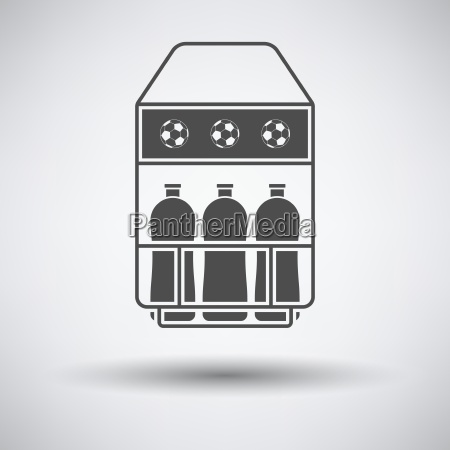 soccer field bottle container icon