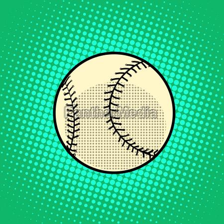 baseball ball pop art retro style