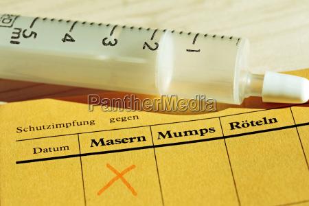 schutzimpfung gegen masern und anderen kinderkrankheiten