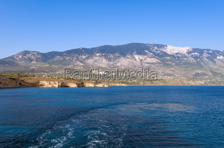 cliff coast of kefalonia island