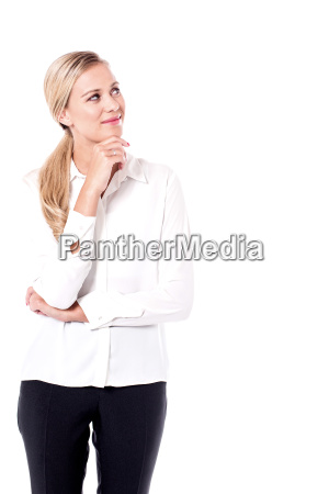 business woman strikes a new idea