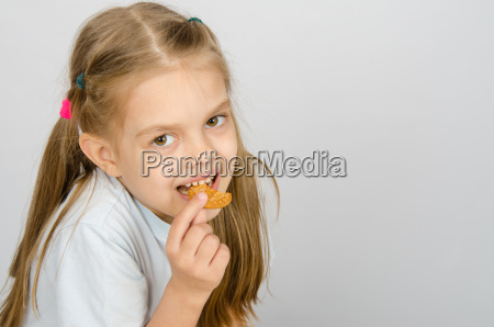 portrait of a little six year