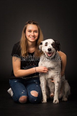 dog teenager girl girls teens teenagers