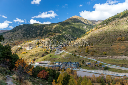 beautiful mountain in andorra pyreness